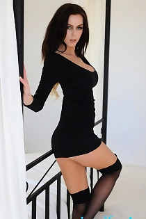 Jennifer Ann In Black Dress