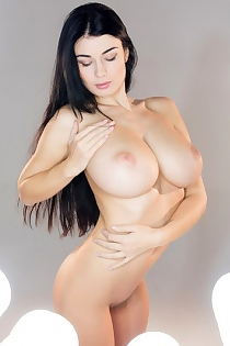 Busty Lucy Li Posing Naked