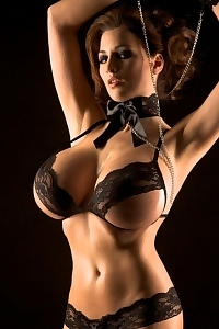 Jordan Carver Very Hot In Tiny Black Lingerie
