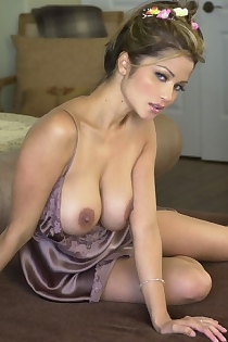 Alley Baggett In Silky Clothes