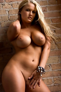 Playboy Michelle Moore Nude By The Brick Wall!